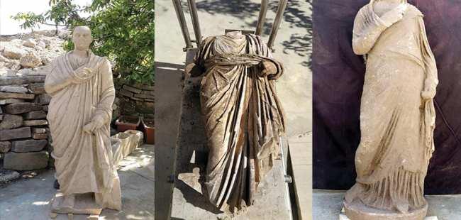 Side'de 3 yeni heykel bulundu