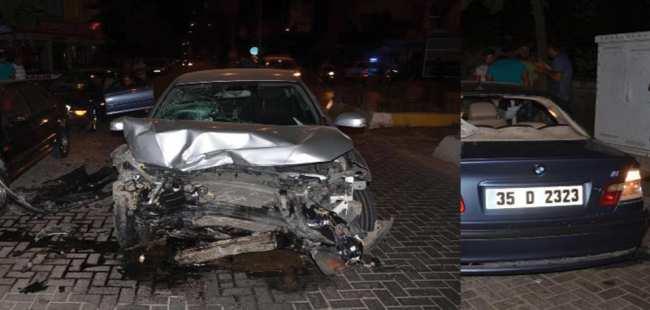 Aydın'da otomobiller çarpıştı