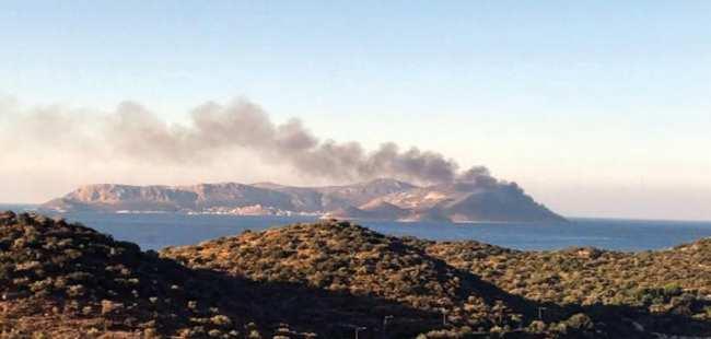 Meis Adası'nda yangın çıktı