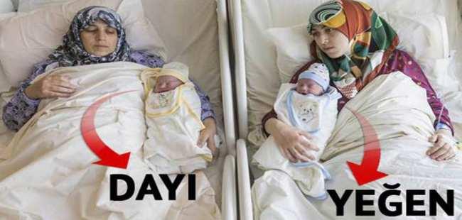 Anne-kız aynı anda doğum yaptılar