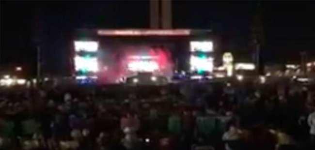 Konserde silahlı saldırı