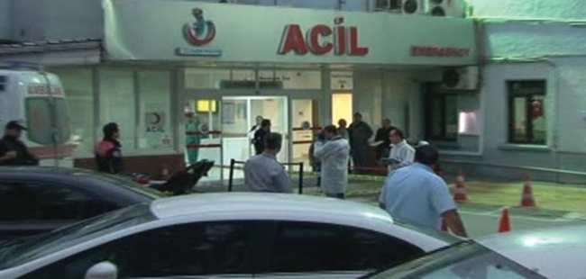 Hastane önünde silahlı çatışma çıktı