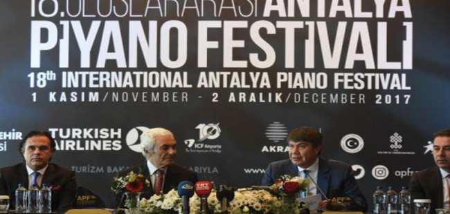18. Uluslararası Antalya Piyano Festivali başlıyor