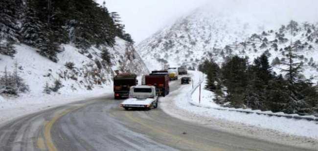Akseki- Seydişehir yolu kapandı