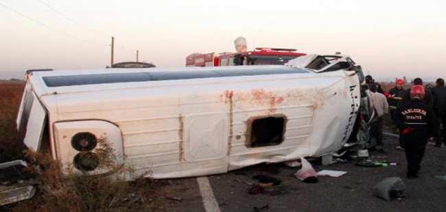 Şanlıurfa'da katliam gibi kaza