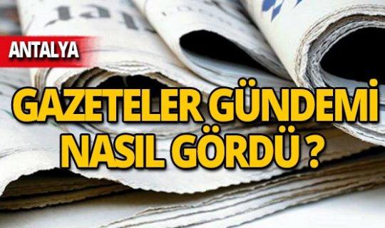 14 Kasım 2019 Antalya'nın yerel gazete manşetleri