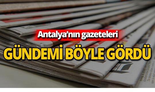 1 Ağustos 2019 Antalya'nın yerel gazete manşetleri