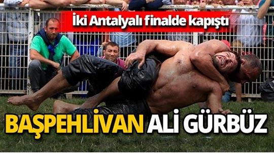 2019 Kırkpınar Başpehlivanı Antalyalı Ali Gürbüz oldu