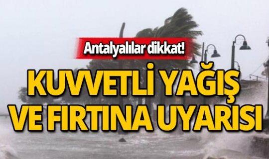 25 Kasım Antalya hava durumu