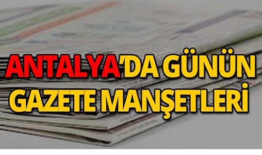 28 Ağustos 2019 Antalya'nın yerel gazete manşetleri