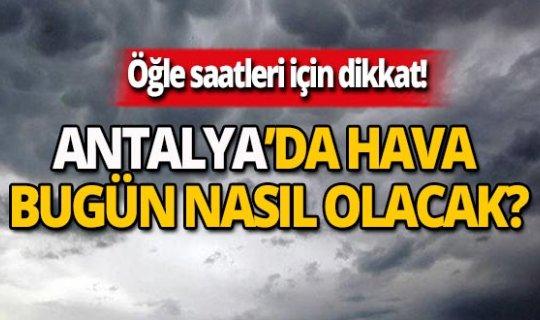 28 Kasım Antalya hava durumu
