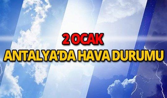 2 Ocak 2019 Antalya hava durumu