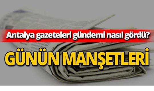 30 Ağustos 2019 Antalya'nın yerel gazete manşetleri