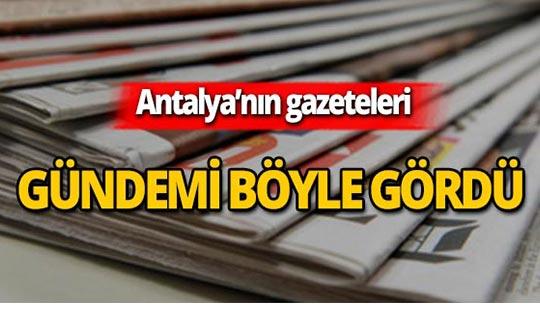 3 Ağustos 2019 Antalya'nın yerel gazete manşetleri