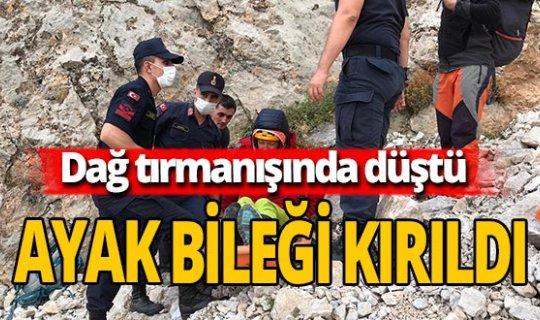 Dağcı turist 4 metre yüksekten düştü