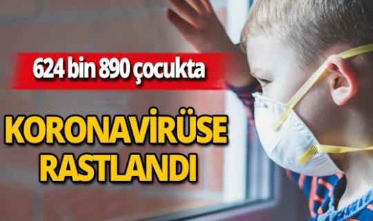 624 bin 890 çocukta koronavirüs tespit edildi