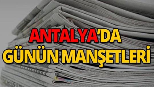 8 Ağustos 2019 Antalya'nın yerel gazete manşetleri