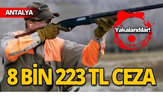 8 bin 223 TL ceza uygulandı!