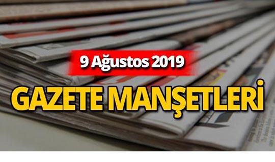 9 Ağustos 2019 Antalya'nın yerel gazete manşetleri