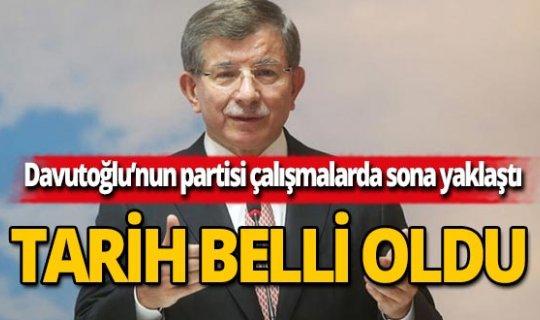Ahmet Davutoğlu'nun partisinin tarihi belli oldu
