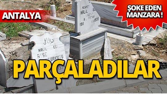 Aile mezarlığına çirkin saldırı!