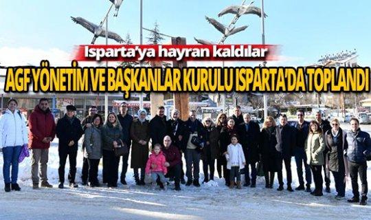 Akdeniz Gazeteciler Federasyonu Başkanları Isparta'da toplandı
