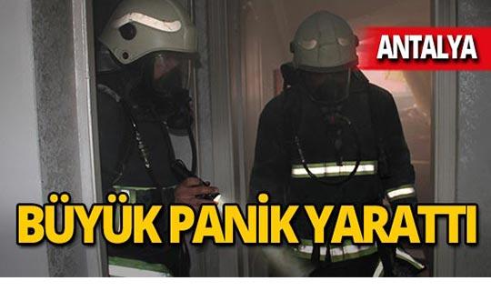 Antalya'da teras yangını!