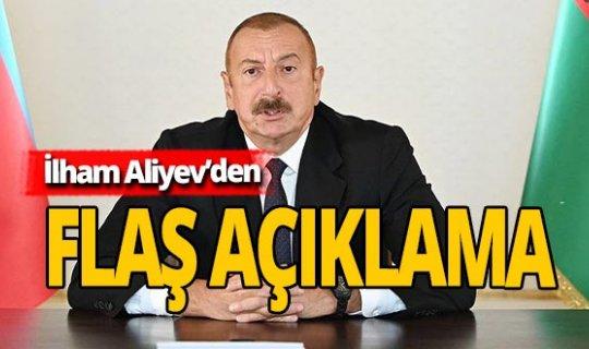 """Aliyev: """"Tek koşul Ermenistan ordusunun geri çekilmesidir"""""""