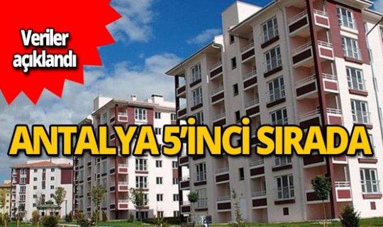 Antalya 5'inci sırada!