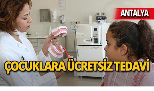 Antalya'da 109 bin çocuğa ücretsiz diş tedavisi