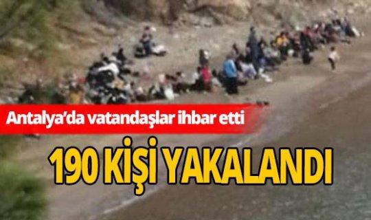 Antalya'da 190 kişi yakalandı