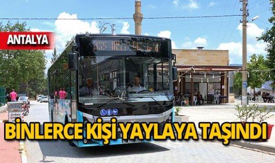Antalya'da 19 bin 555 kişi yaylalara taşındı