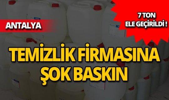 Antalya'da 7 ton ele geçirildi!