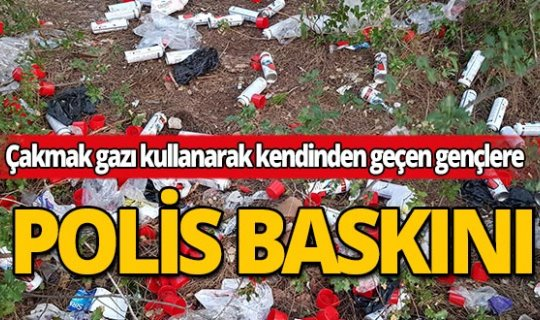 Antalya'da çakmak gazı ile kendisinden geçmiş vaziyette 2 çocuk yakalandı!