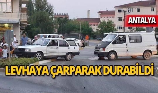 Antalya'da hastaneye giderken hastanelik oldu!