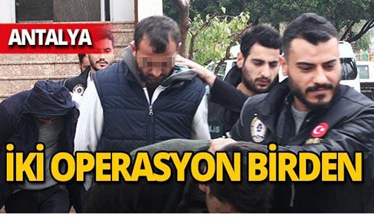 Antalya'da iki operasyon birden : Tam 5 bin 100 adet ele geçirildi!
