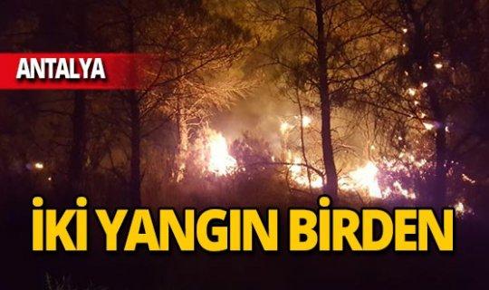 Antalya'da iki yangın birden!