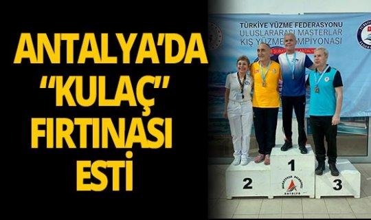"""Antalya'da """"kulaç"""" fırtınası esti"""