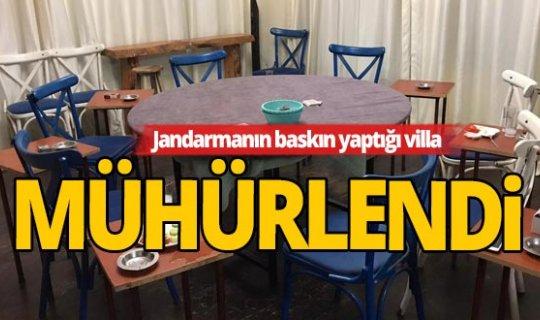 Antalya'da lüks villaya kumar baskını