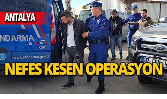 Antalya'da nefes kesen operasyon: Suçüstü yakalandı!