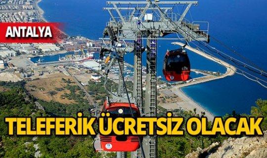 Antalya'da öğretmenlere teleferik jesti!