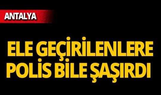 Antalya'da polisten kaçamadılar