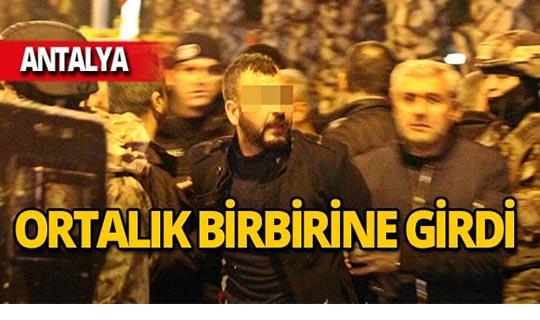 Antalya'da pompalı tüfekle dehşet saçtı!