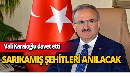 Antalya'da Sarıkamış Şehitleri anılacak