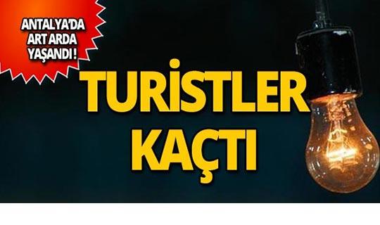 Antalya'da turistler tatillerini yarıda bıraktı!