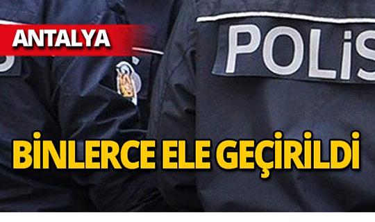 Antalya'da yılbaşı baskını!