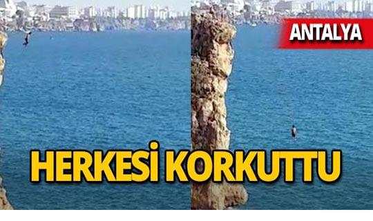 Antalya'da yürekleri ağza getirdiler