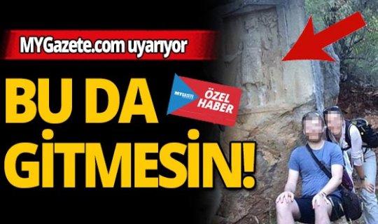 Antalya'daki Apollon kaya kabartması için MYGazete.com uyardı!