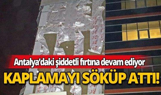 Antalya'daki fırtına hastaneyi harap etti!