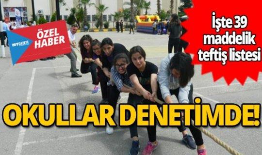 Antalya'daki okullar denetimde!